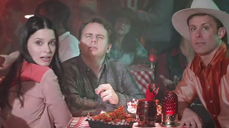 Trista Robinson and Derek Houck in the new KFC Smokey Mountain BBQ commerical